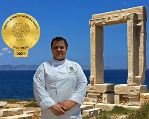 """Ο Νάξιος σεφ Στέλιος Κορρές βραβεύτηκε από το «Greek Taste Beyond Borders"""""""