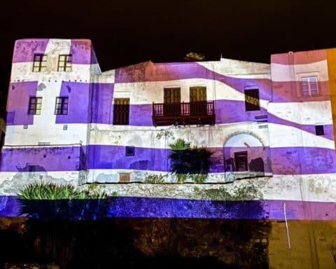 """1821-2021: Η σημαία που """"φώτισε"""" το Κάστρο της Νάξου"""
