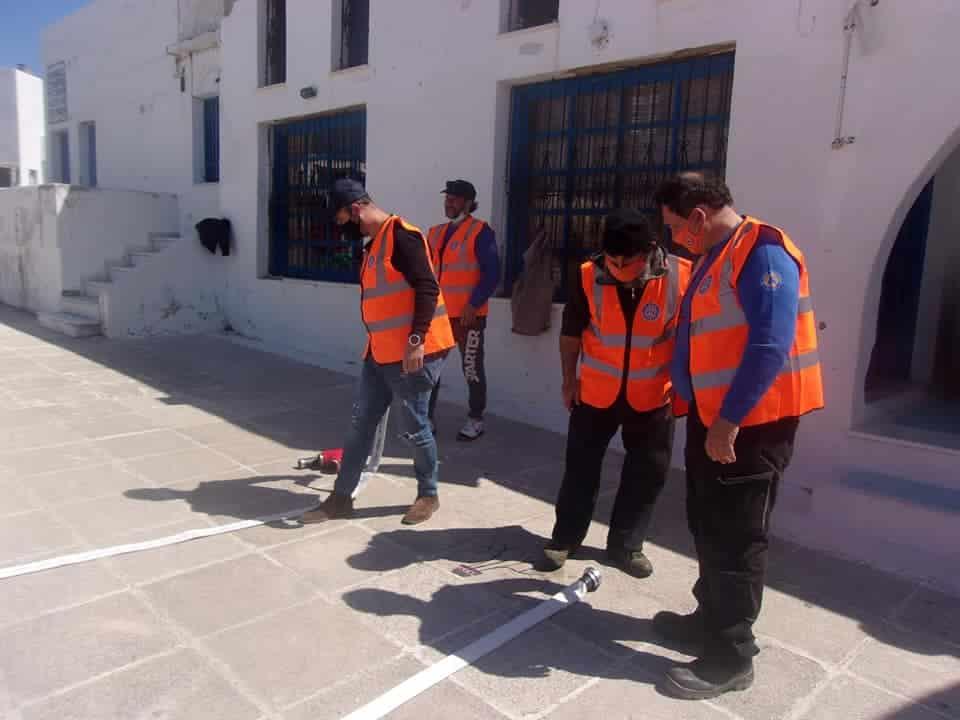 Εκπαίδευση των εθελοντών της Πολιτικής Προστασίας Νάξου και Μικρών Κυκλάδων στην πυρόσβεση