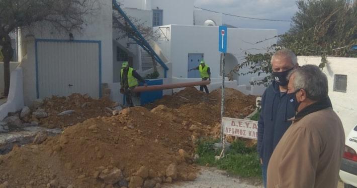Αύξηση προϋπολογισμού για την επαναδημοπράτηση της αντικατάστασης του κεντρικού δικτύου ύδρευσης Παροικιάς Πάρου