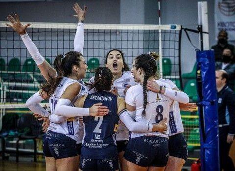 Παναθηναϊκός - ΑΟ Θήρας 2-3: Στον τελικό του βόλεϊ τα κορίτσια της Σαντορίνης