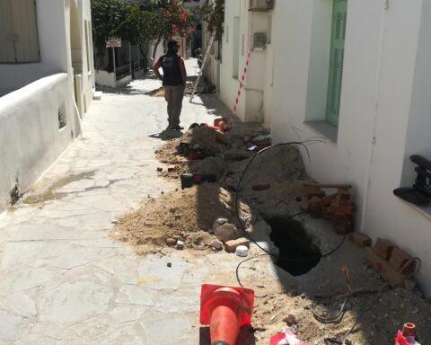 Το πεπαλαιωμένο δίκτυο χαλκού του ΟΤΕ στο νησί της Νάξου, σταδιακά, αντικαθίσταται...